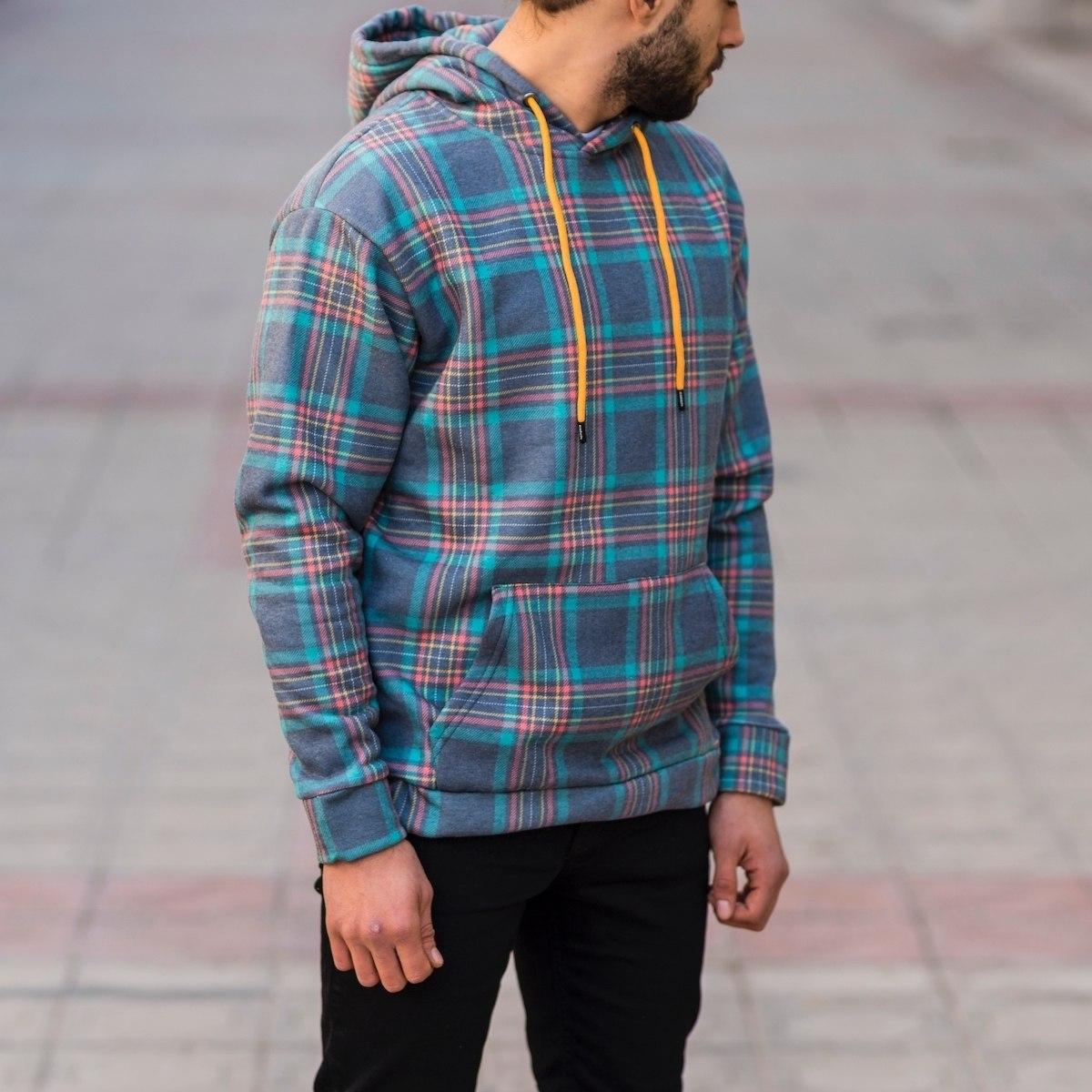 Men's Plaid Sweatshirt In Blue