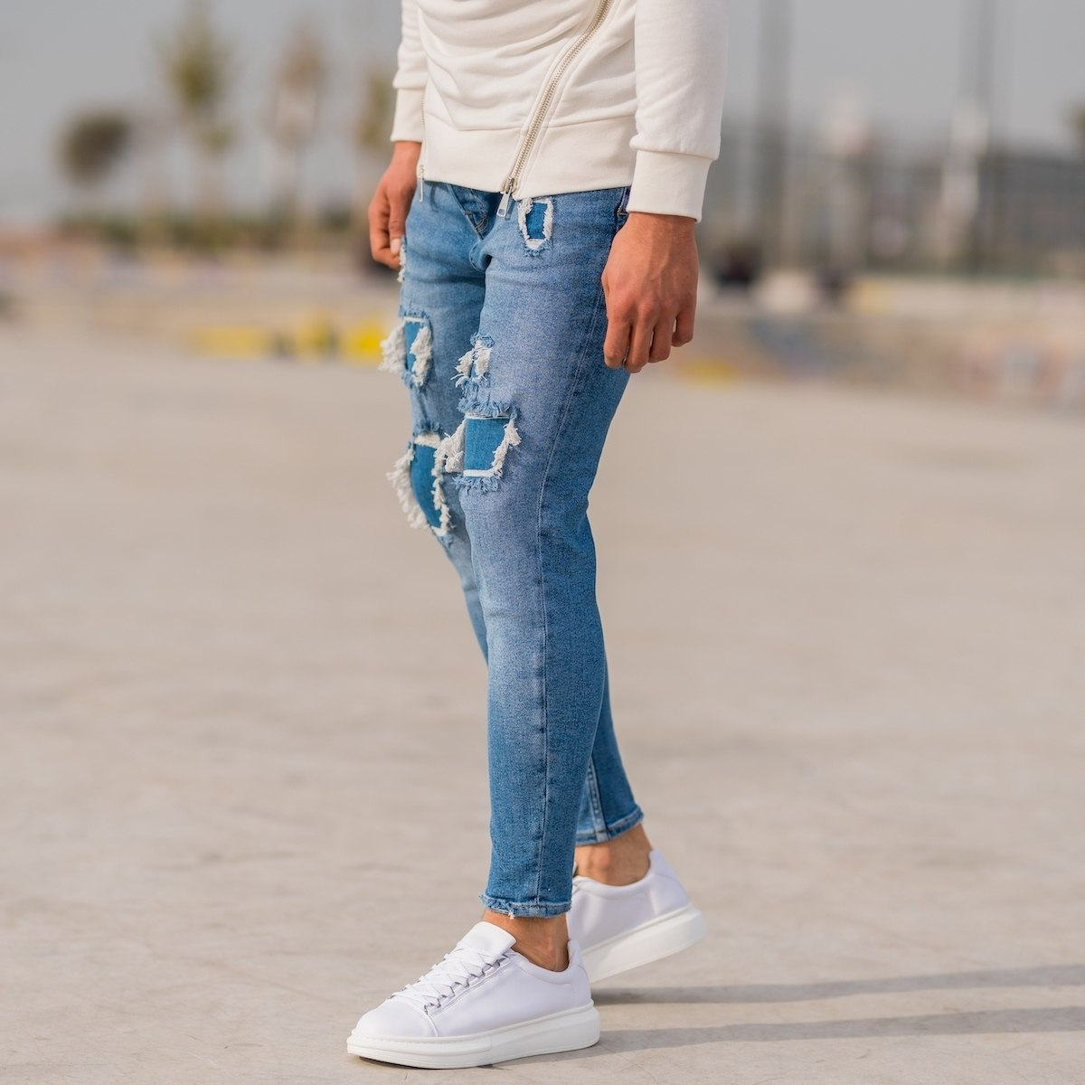 Men's Distorted Patch Jeans