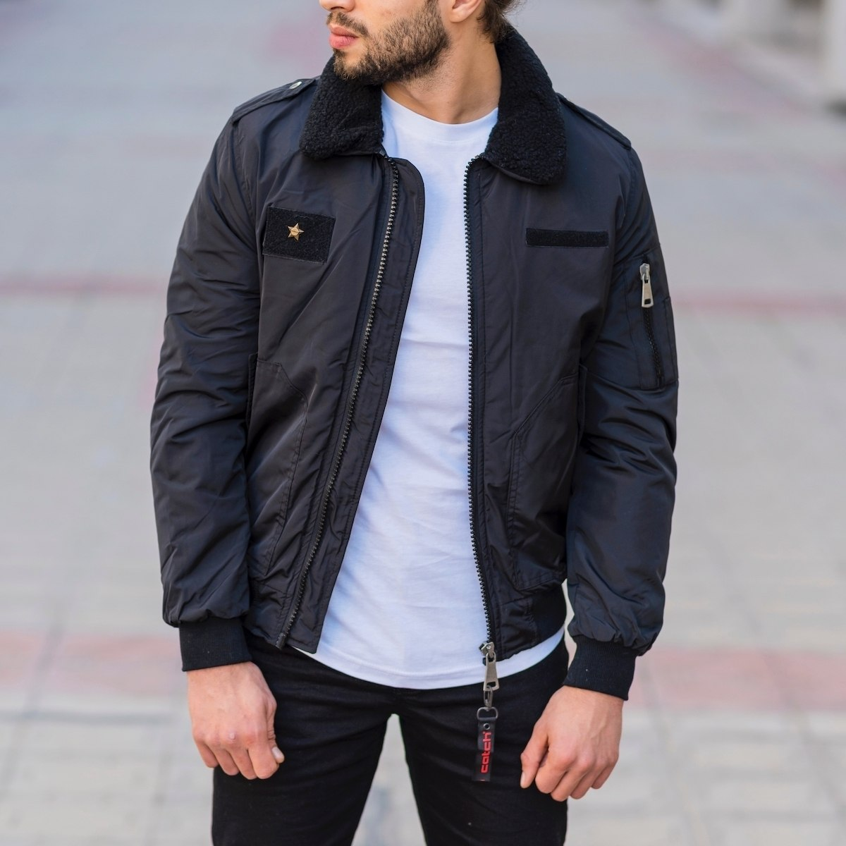 Men's Pilot Jacket In Black