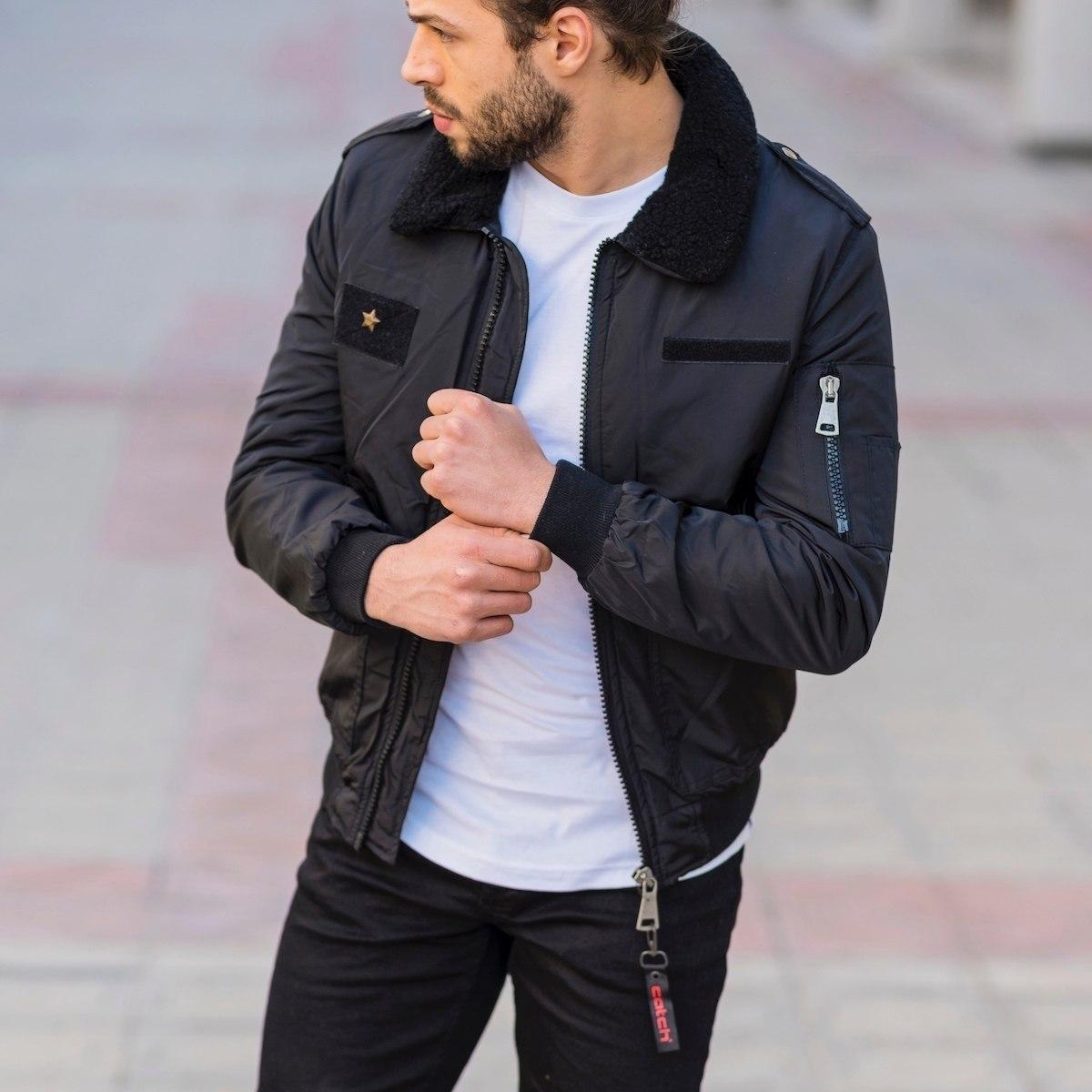 Men's Pilot Jacket In Black