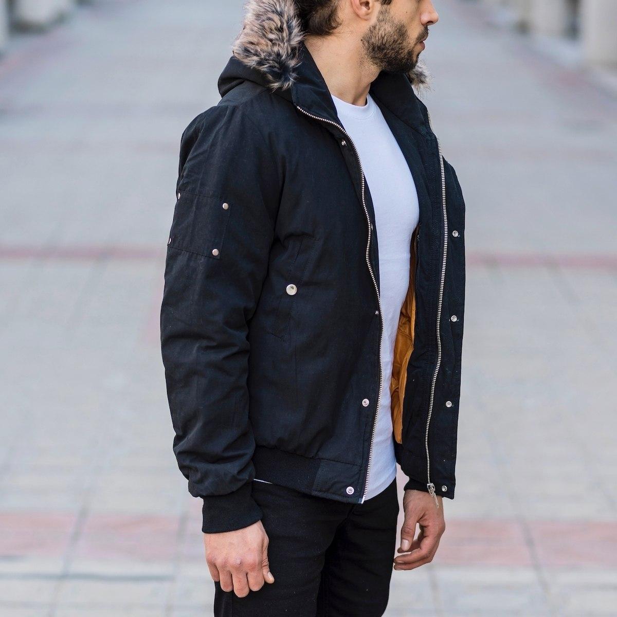 Men's Hooded Furry Jacket...