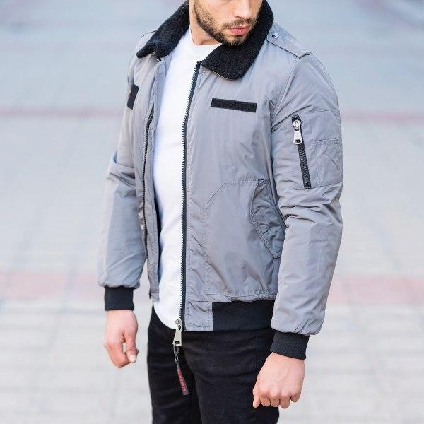 Men's Pilot Jacket In Gray