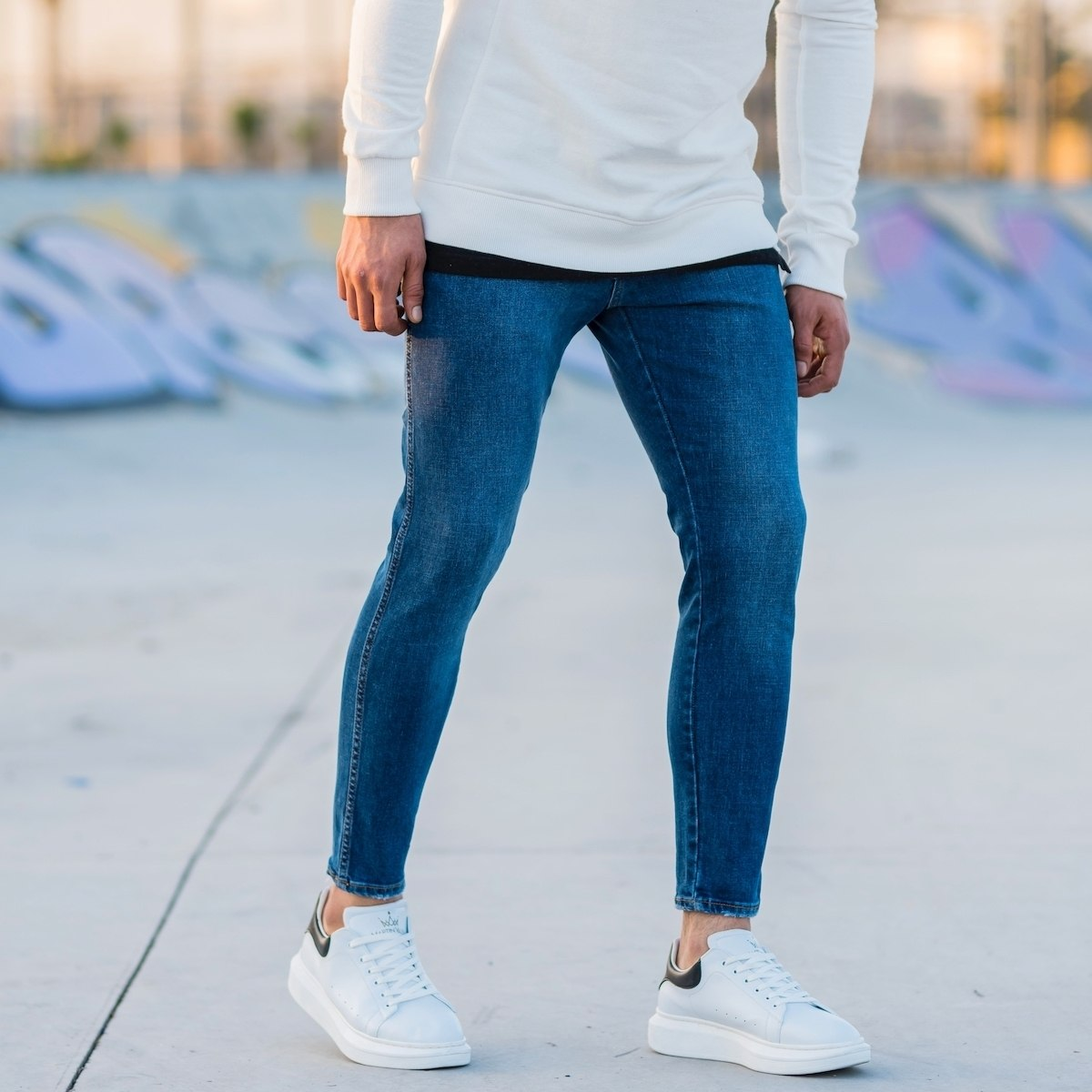 Men's Vintage Skinny Jeans...