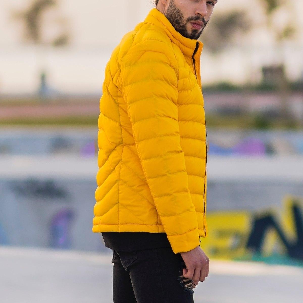 Men's Puffer Jacket In Yellow