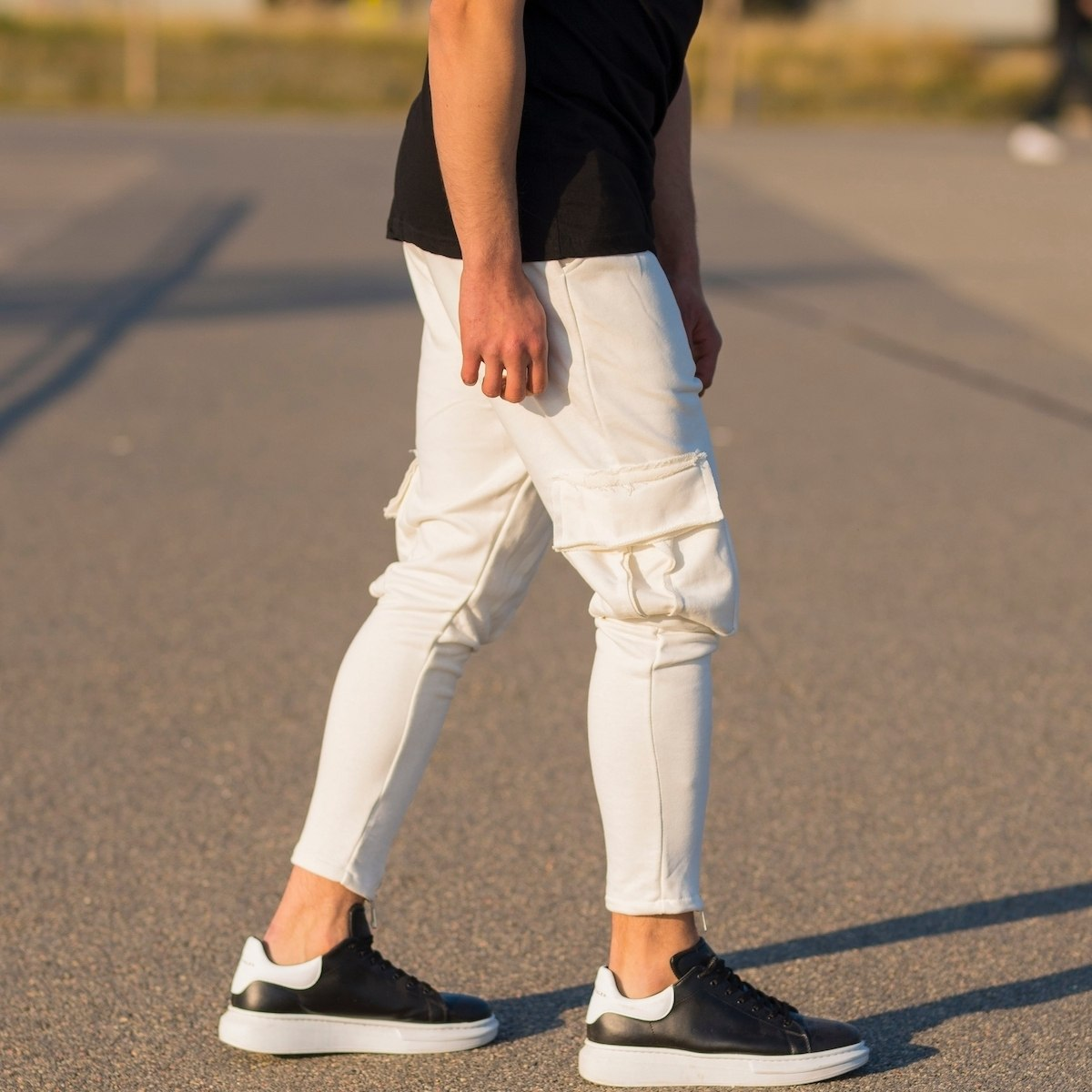 Men's Cargo Joggers With...