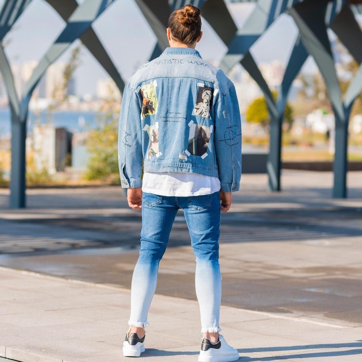 Men's Artwork Denim Jacket