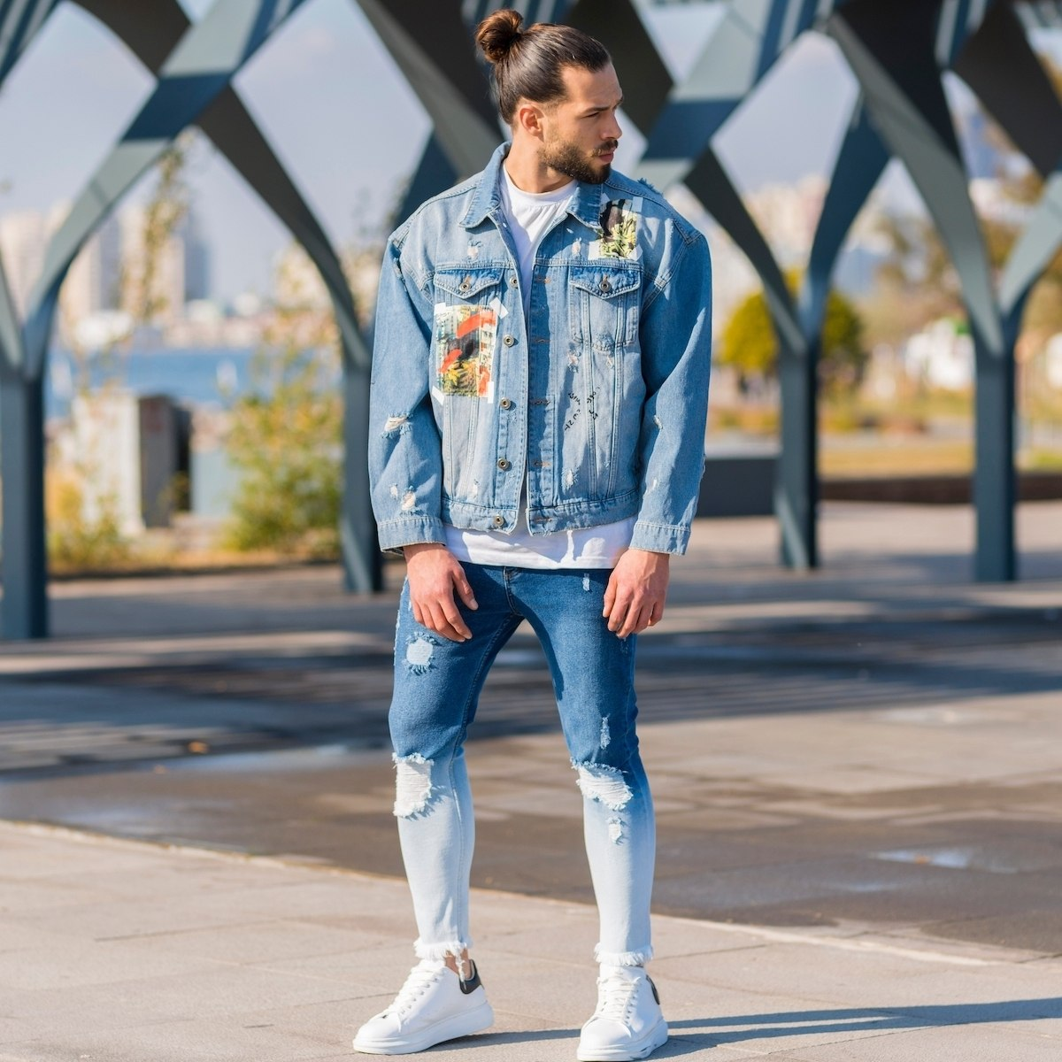 Men's Artwork Denim Jacket