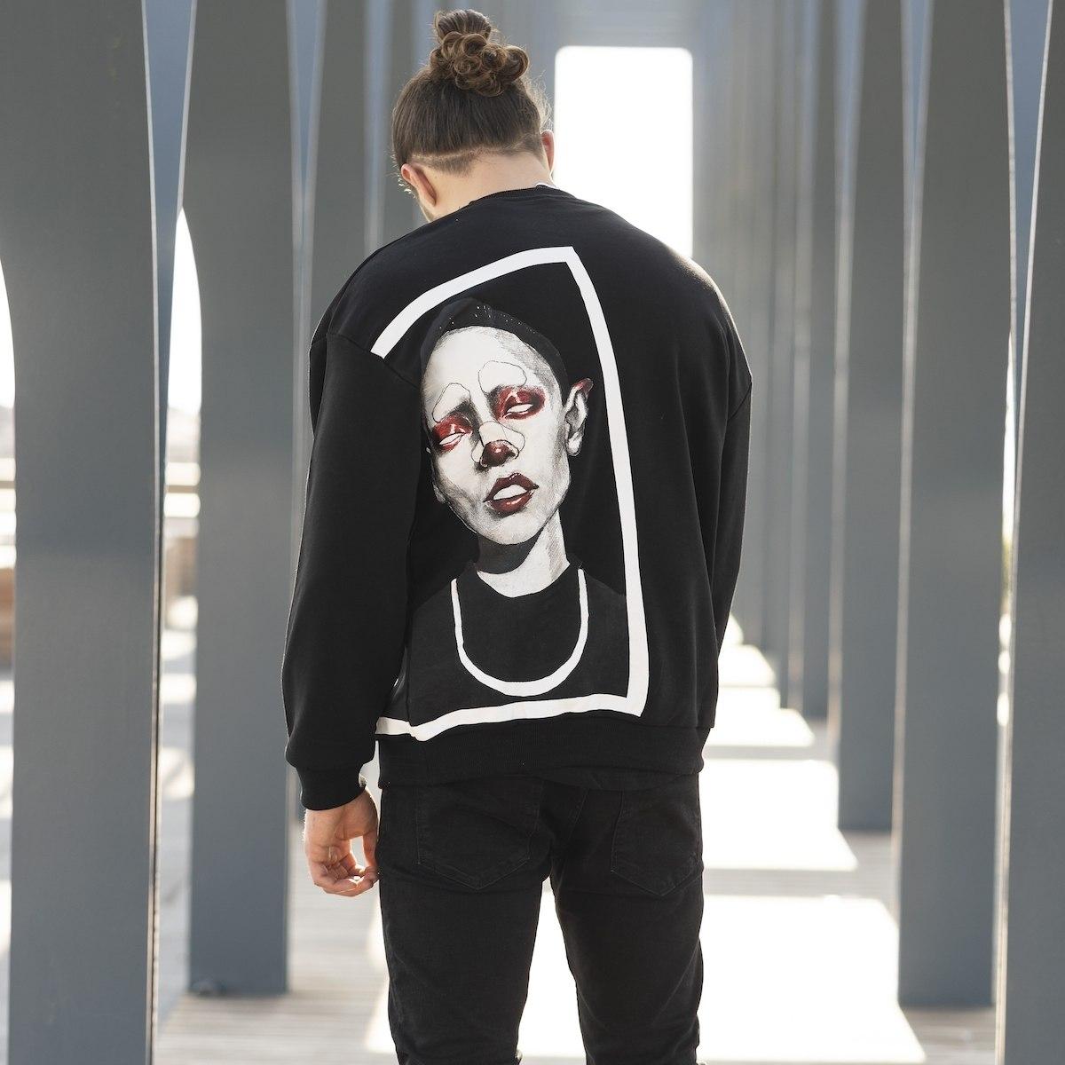 Men's Avant-Garde Sweatshirt In Black