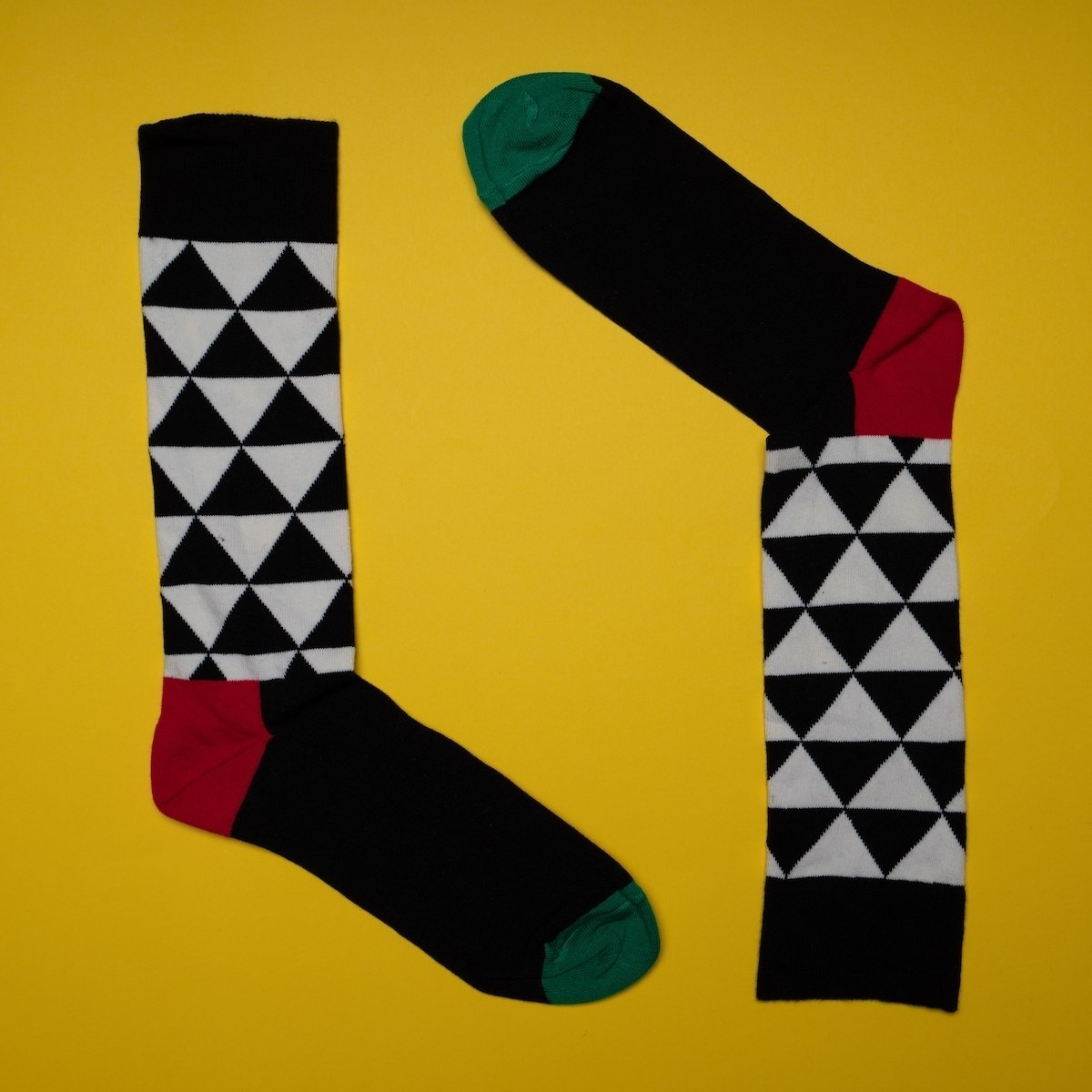 Men's Long Pyramid Socks In Black