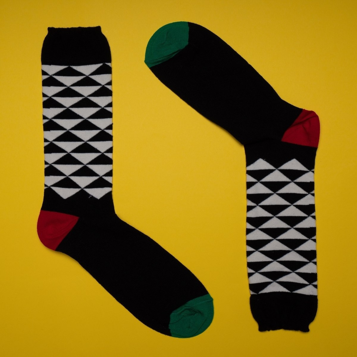 Men's Pyramid Socks In Black