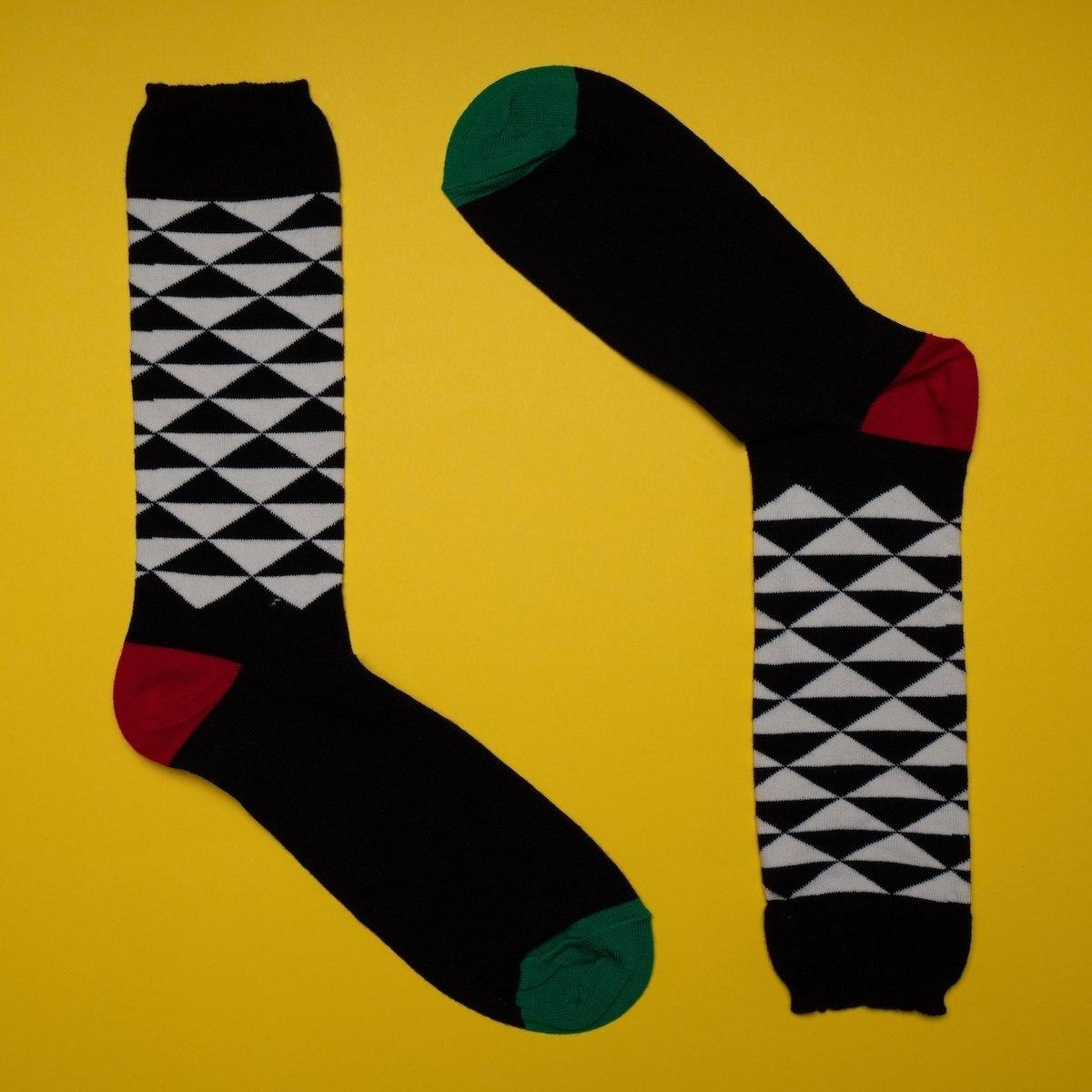 Men's Pyramid Socks In Black