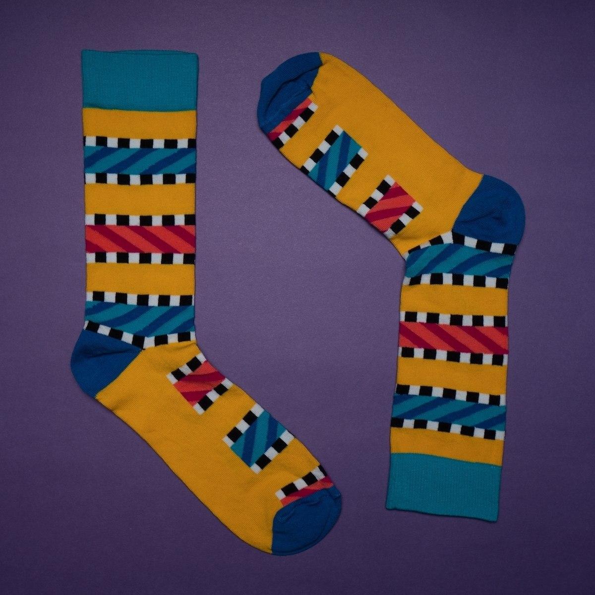 Men's Cord Textured Socks In Yellow