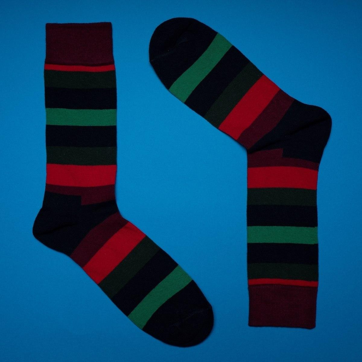 Men's Striped Socks In RGB Colors
