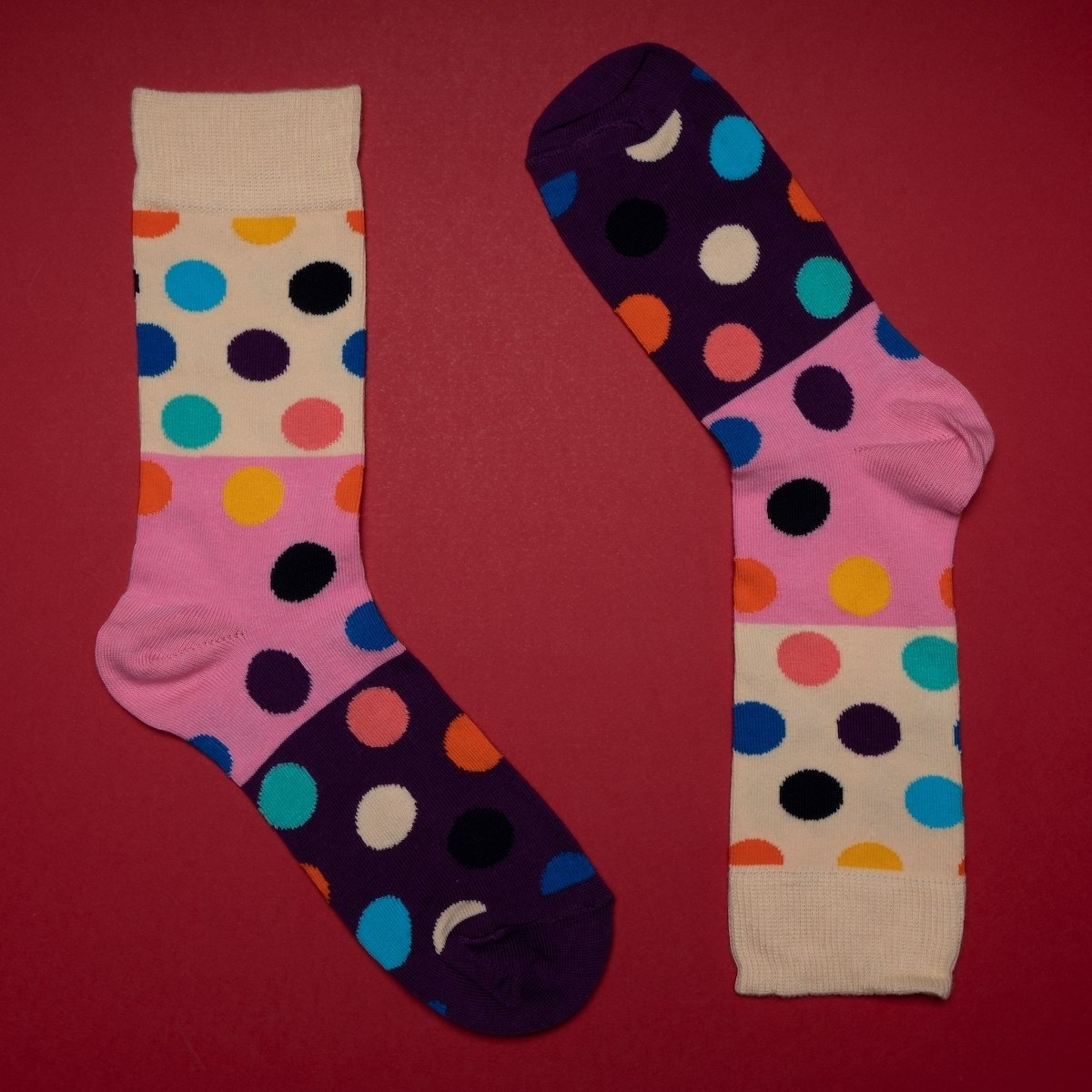 Women's Spotty Socks In Purple