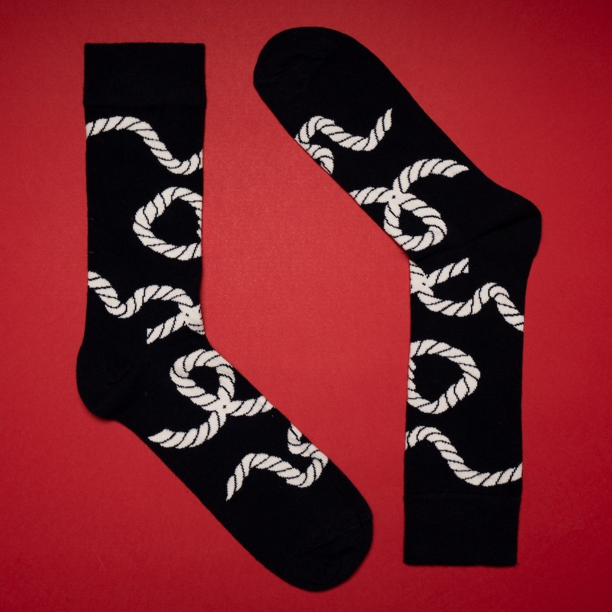 Men's Rope Socks In Navy Blue