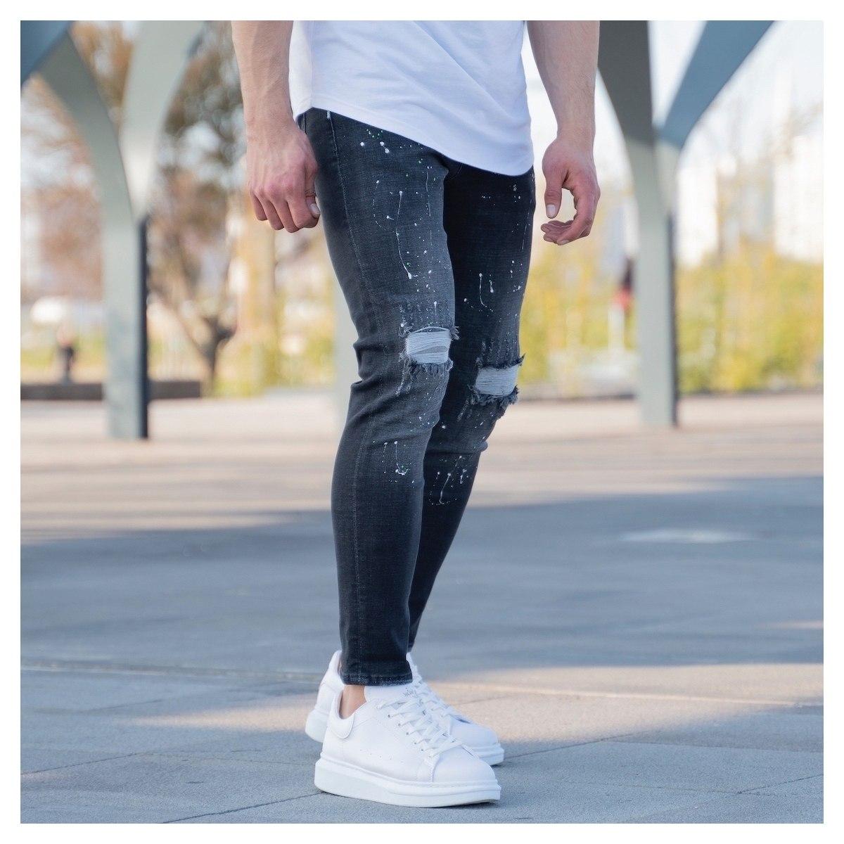 Men's Paint-Drop Jeans In...