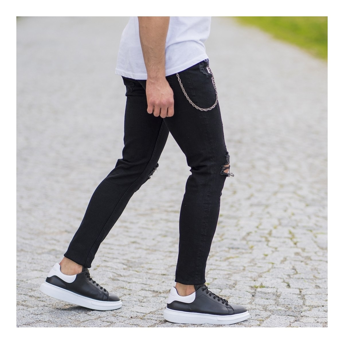 Men's Regged Jeans With...