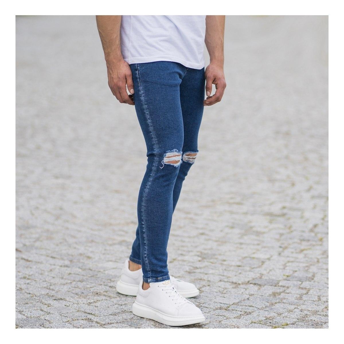 Men's Distorted Leg Skinny...