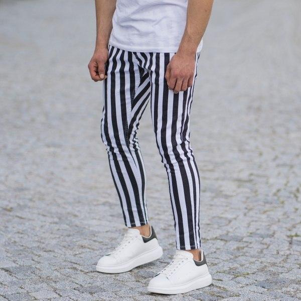 Men's Striped Jeans In...