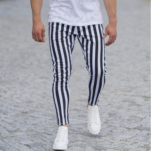 Men's Striped Jeans In...
