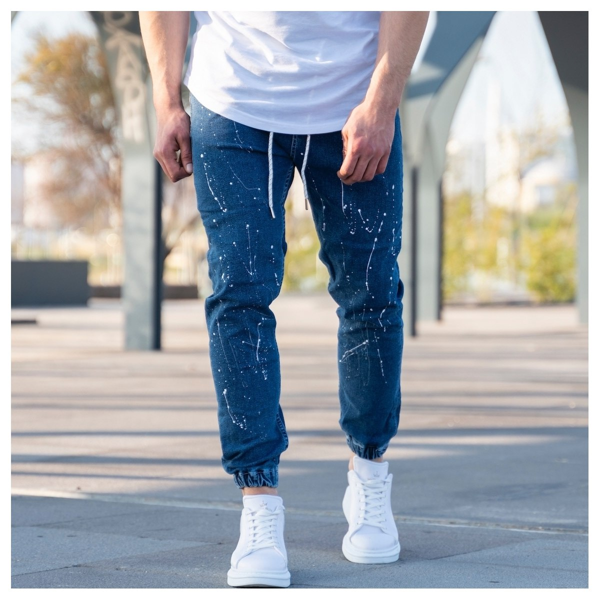 Men's Paint-Drop Jean...