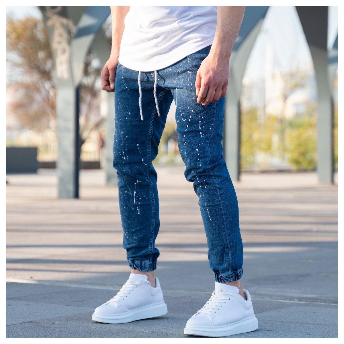 Men's Paint-Drop Jean...