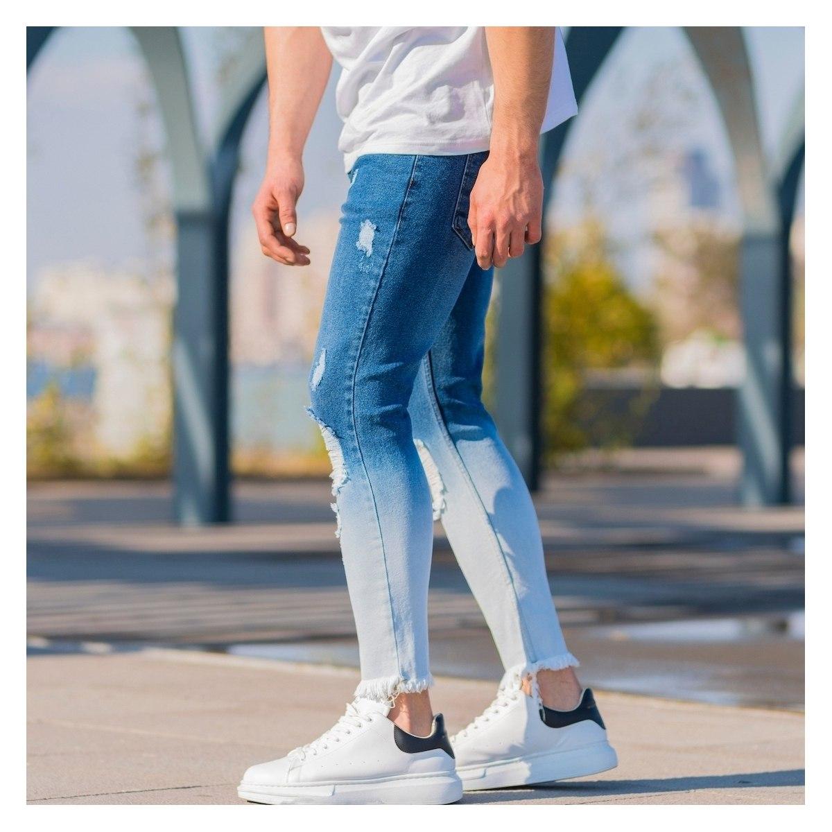 Men's Ragged Degrade Jeans...
