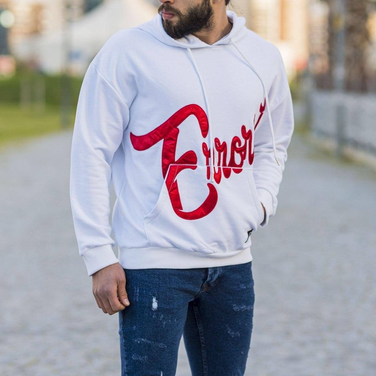''Errorist'' Hoodie in White