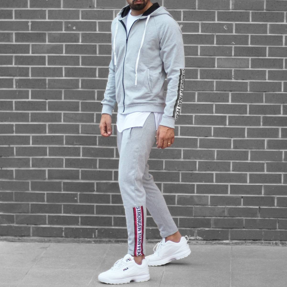 Men's Stronger Than Fear Tracksuit Gray