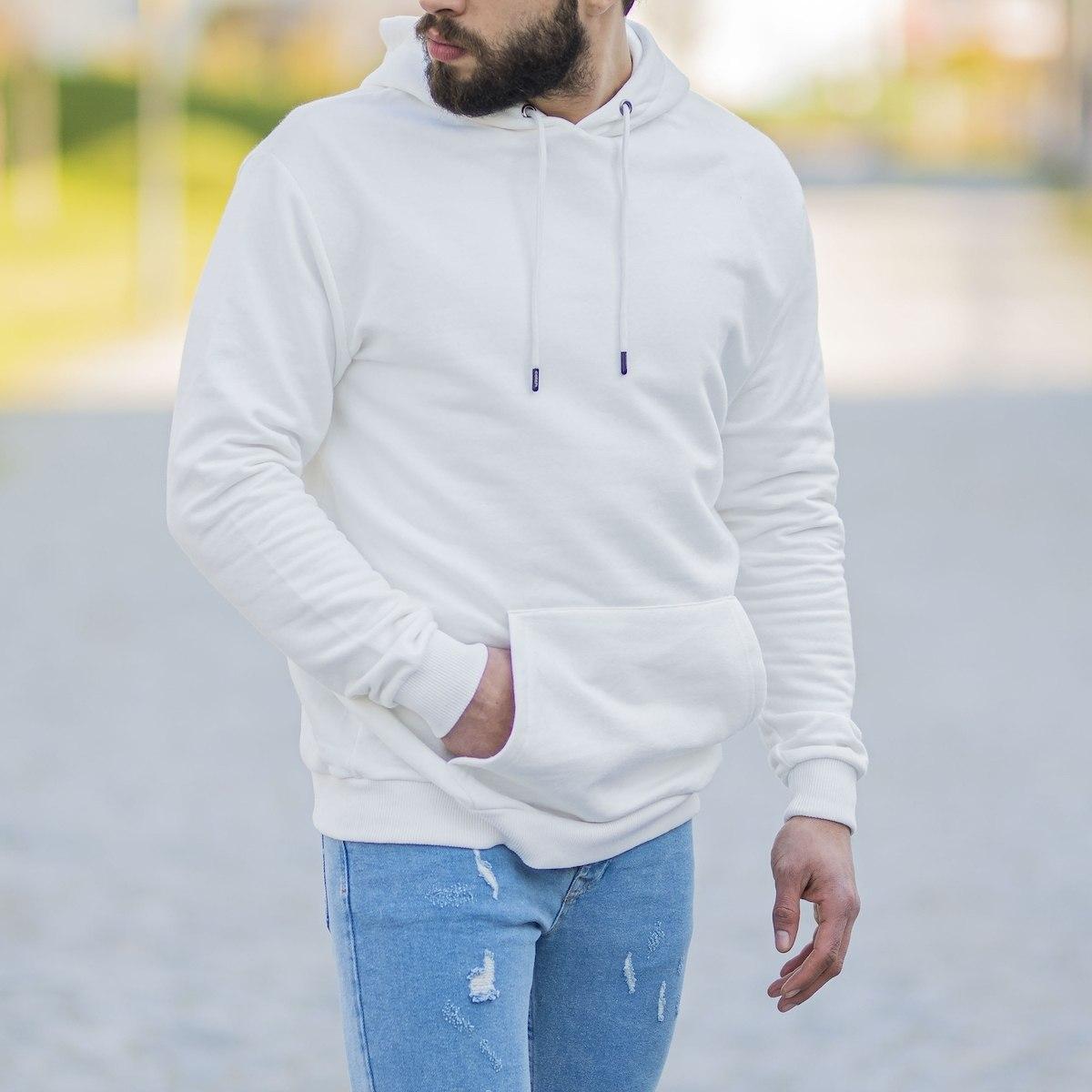 Men's Basic Hoodie In White
