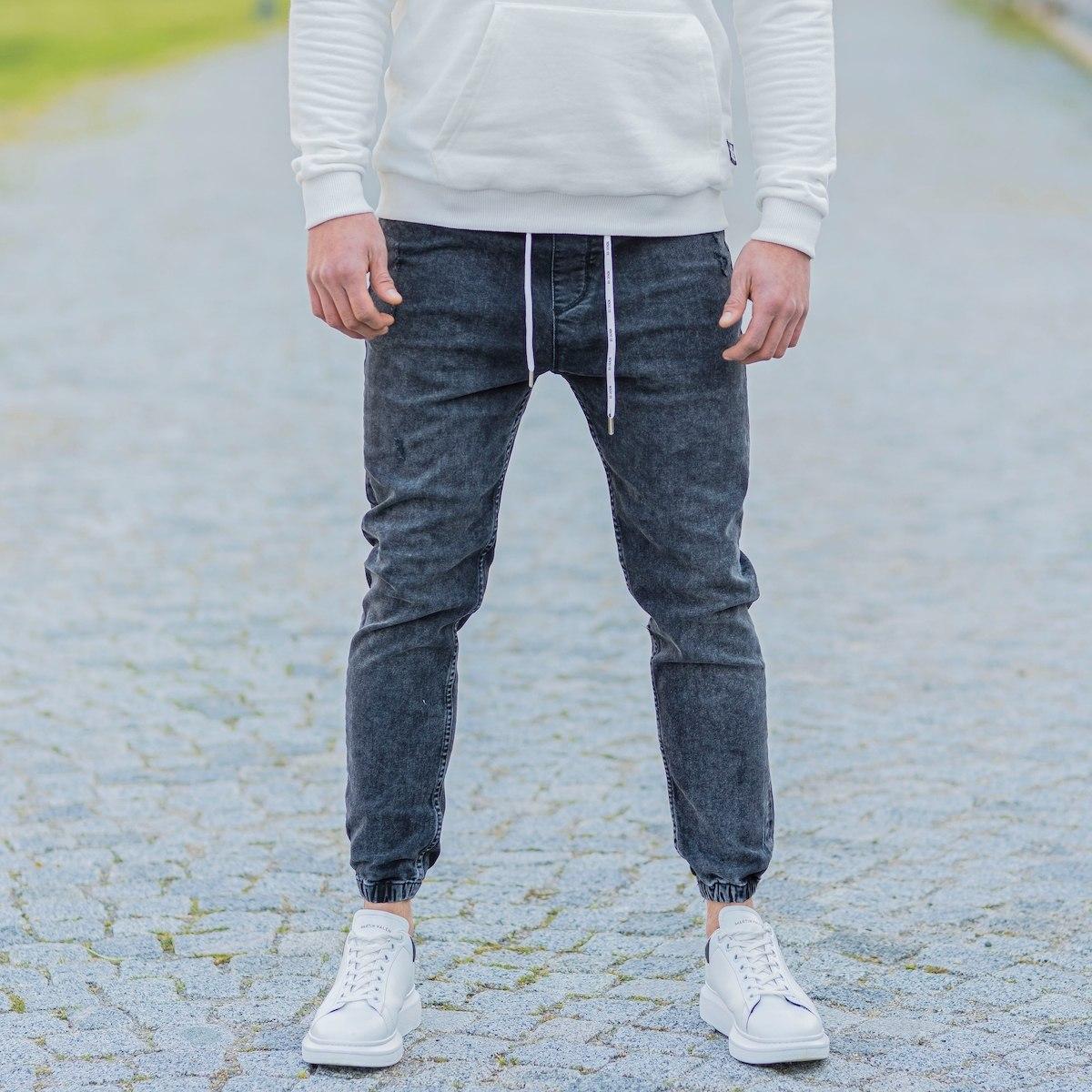 Men's Denim Joggers In Anthracite