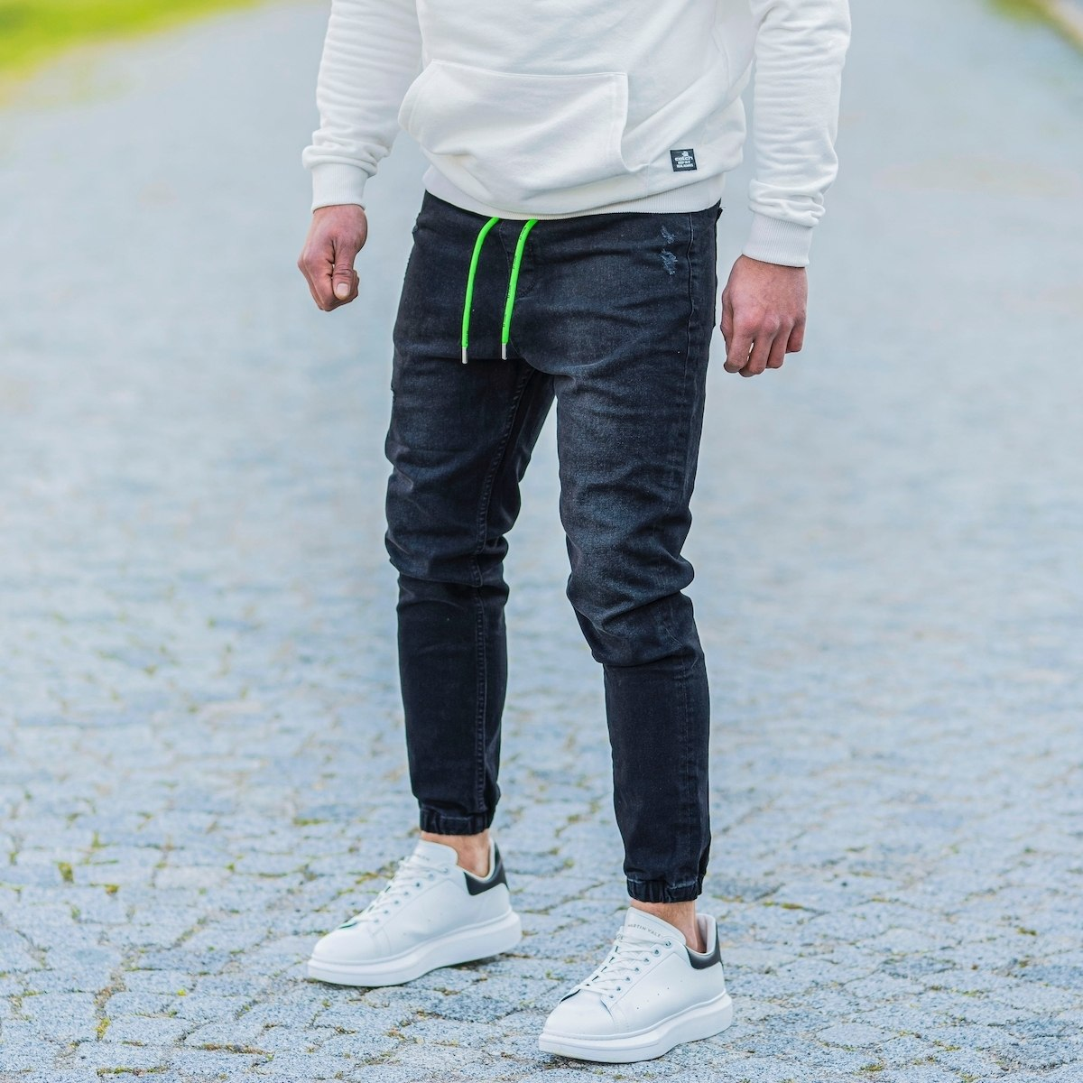 Men's Denim Joggers In...