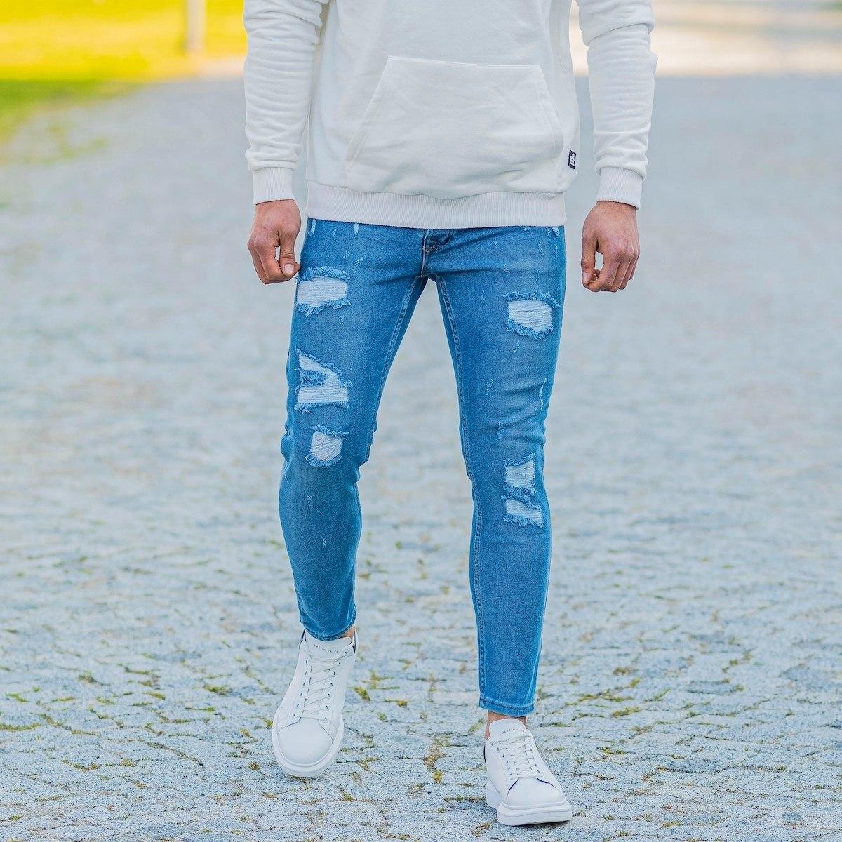Men's Skinny Ragged Jeans...