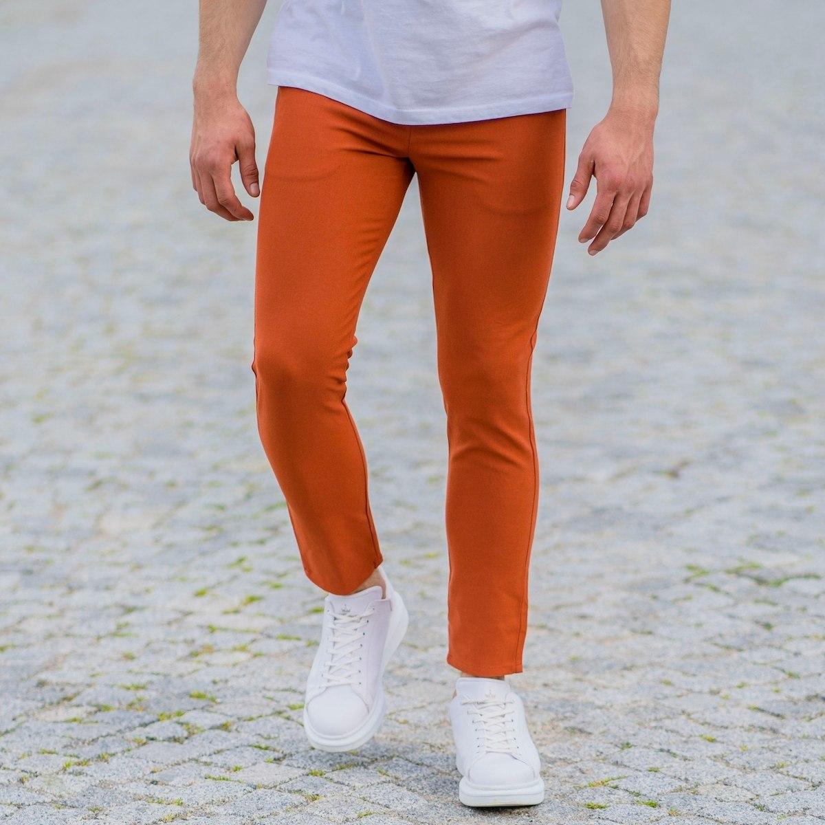 Orange Slim-Fit Trousers