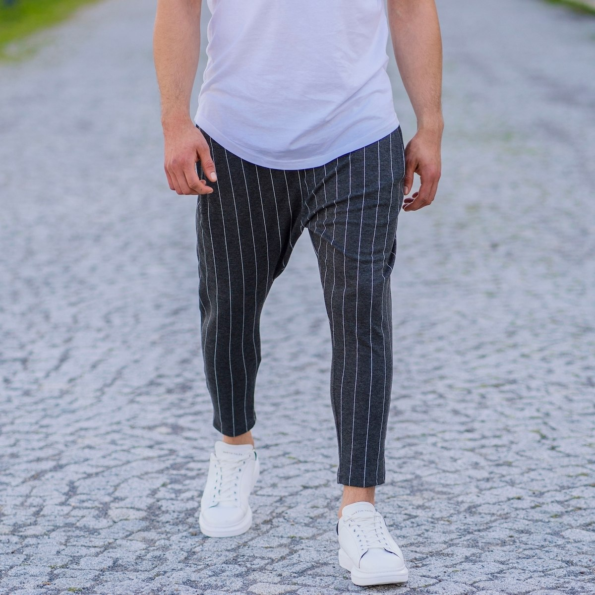Men's Striped Shalvar In Gray