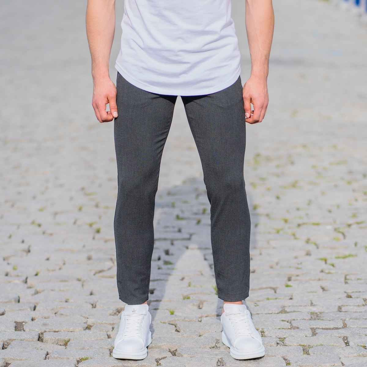 Anthracite Slim-Fit Trousers