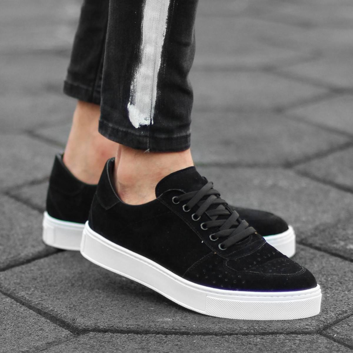 MV Black Suede Low-Cut...