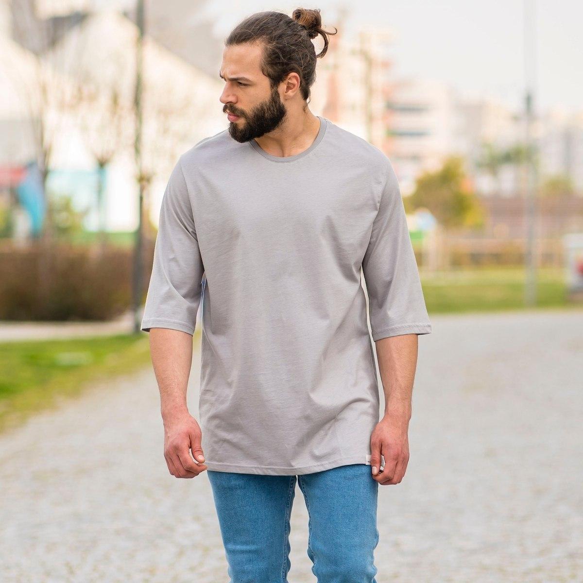 Men's Oversize Basic T-Shirt In Stone