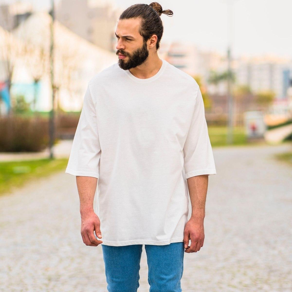 Men's Oversize Basic T-Shirt In White