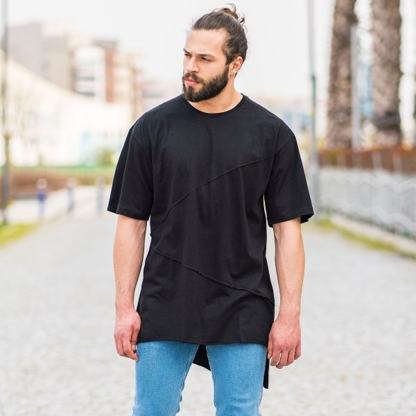 Men's Patchwork Oversize...