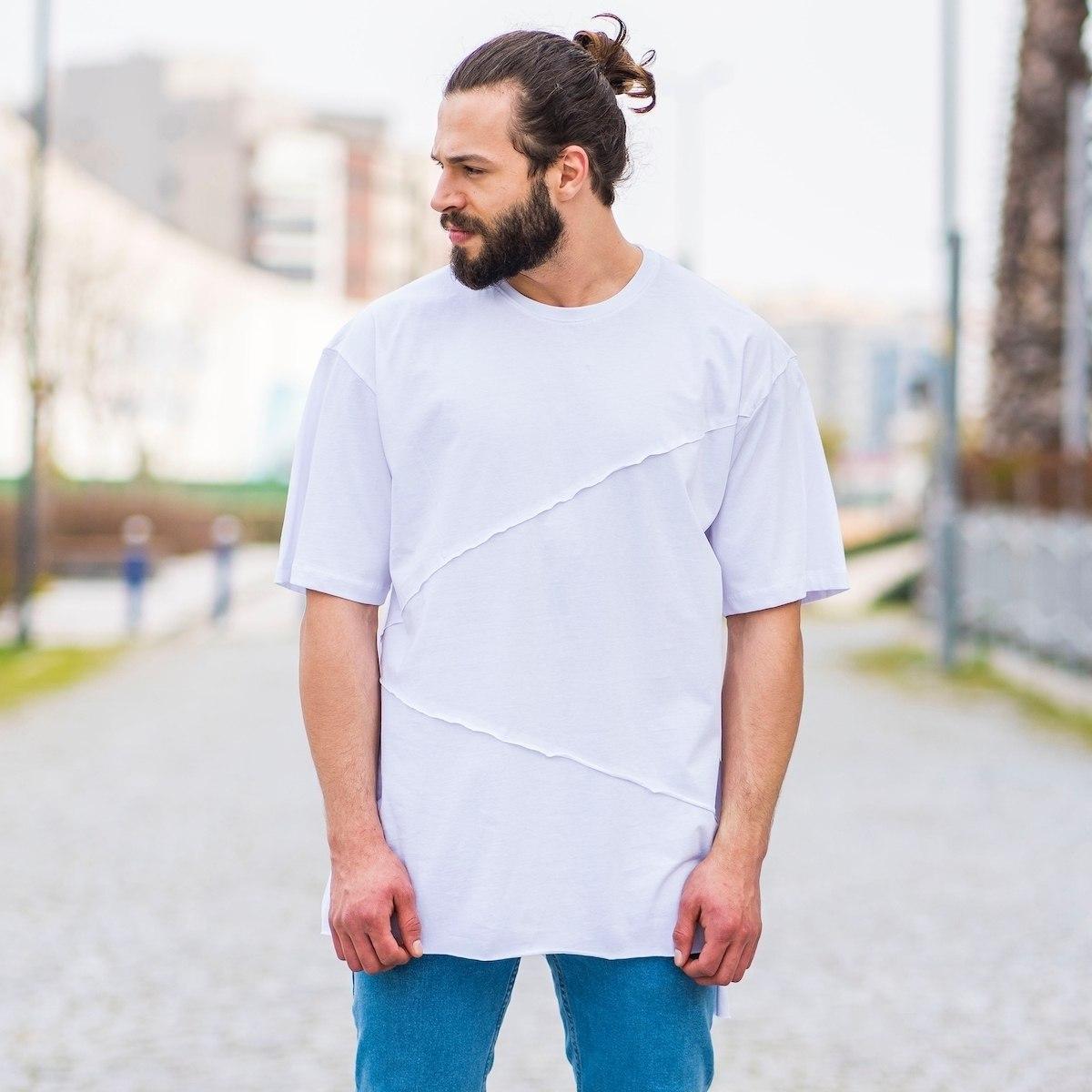 Herren T-Shirt mit Flick in...