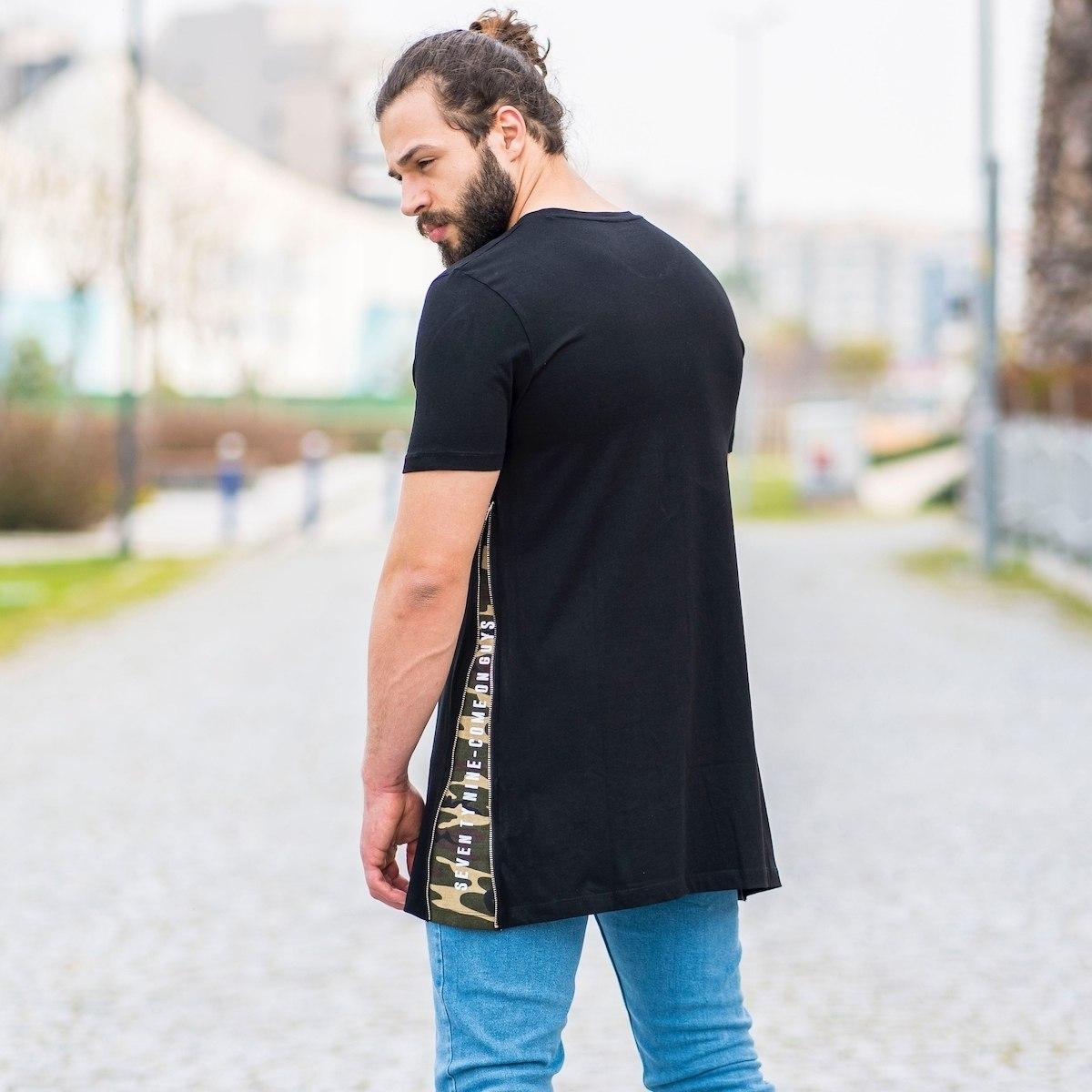 Herren T-Shirt mit Flick...