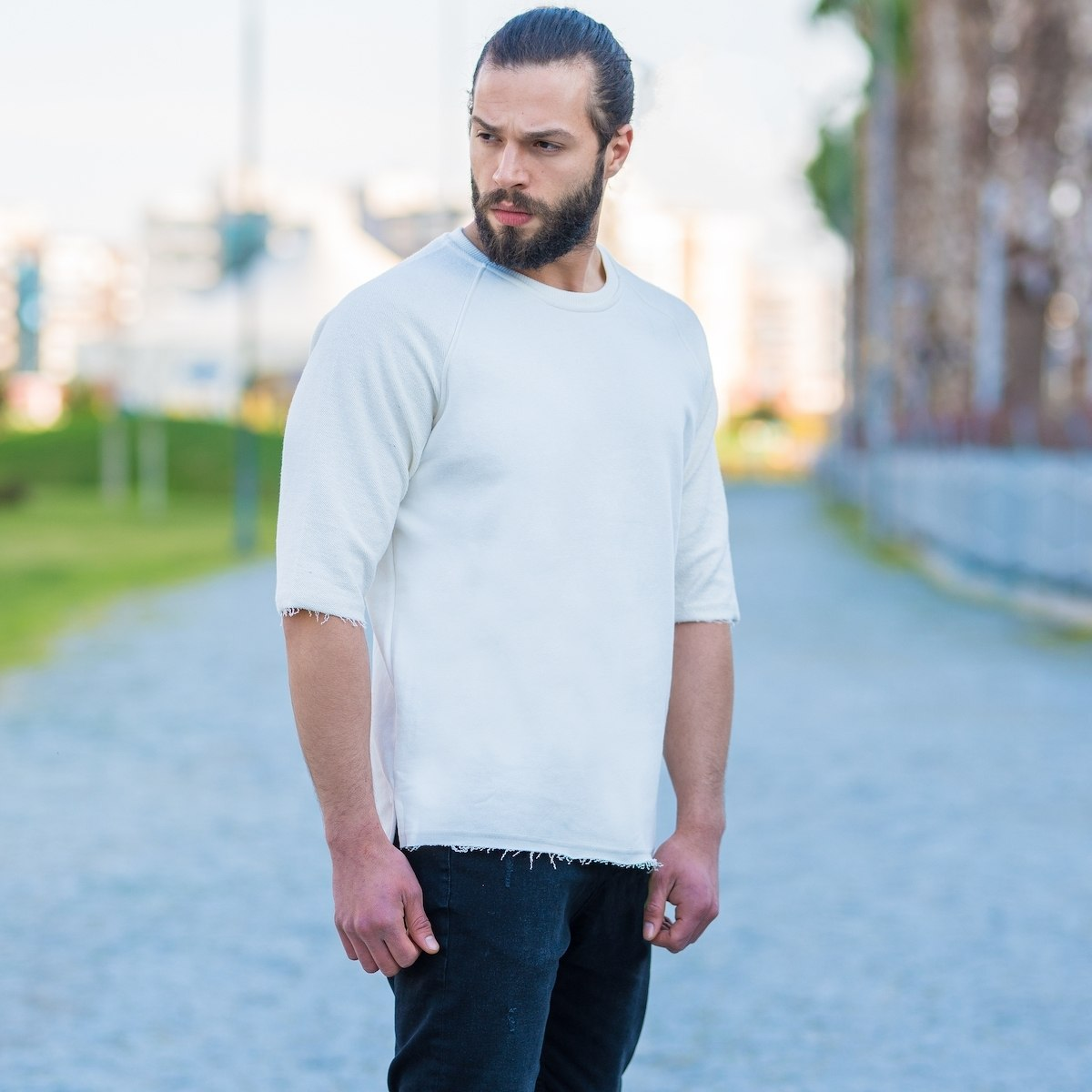 Half-Sleeved Sweatshirt In...