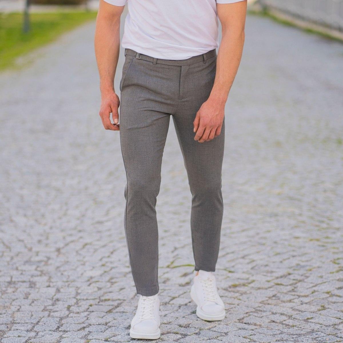 Herren Slim-Fit Hose in grau