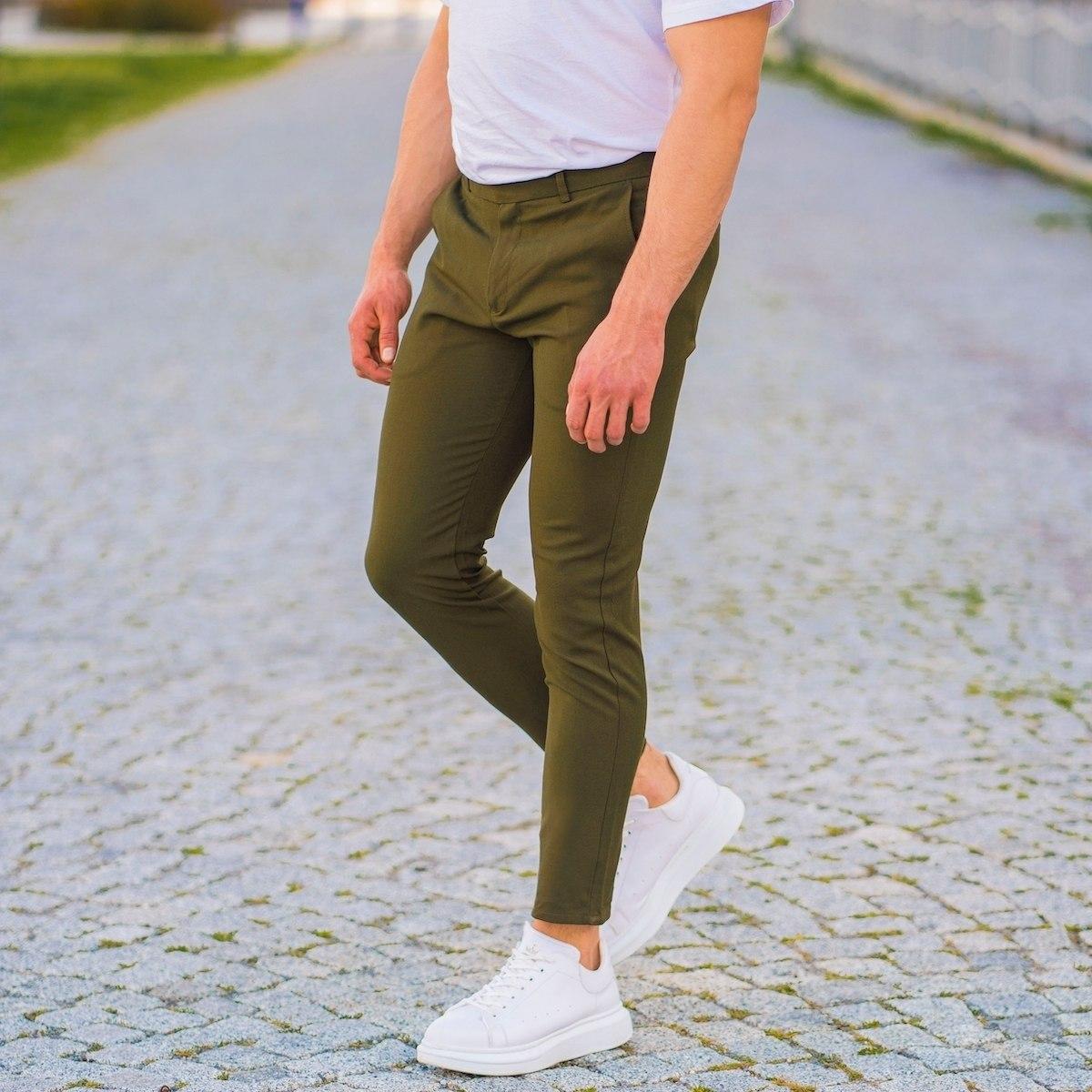 Khaki Slim-Fit Trousers