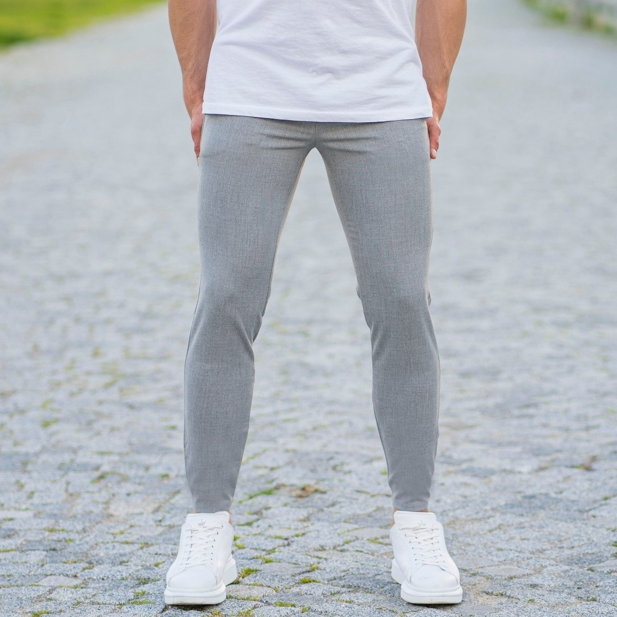 Men's Skinny Trousers In...