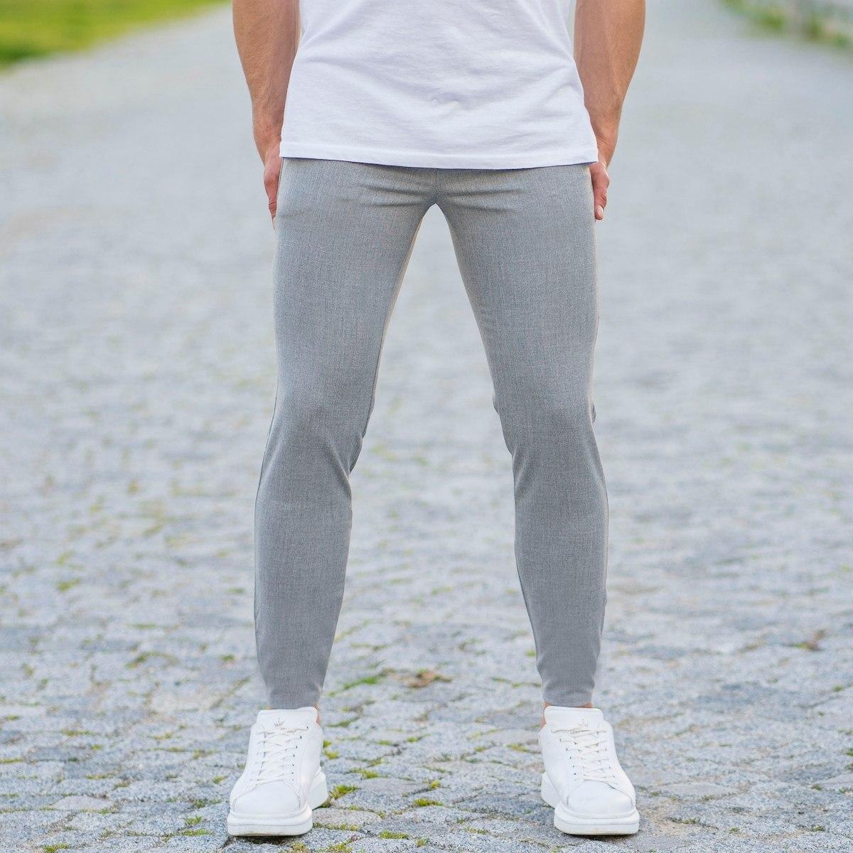 Men's Skinny Trousers In Light Gray