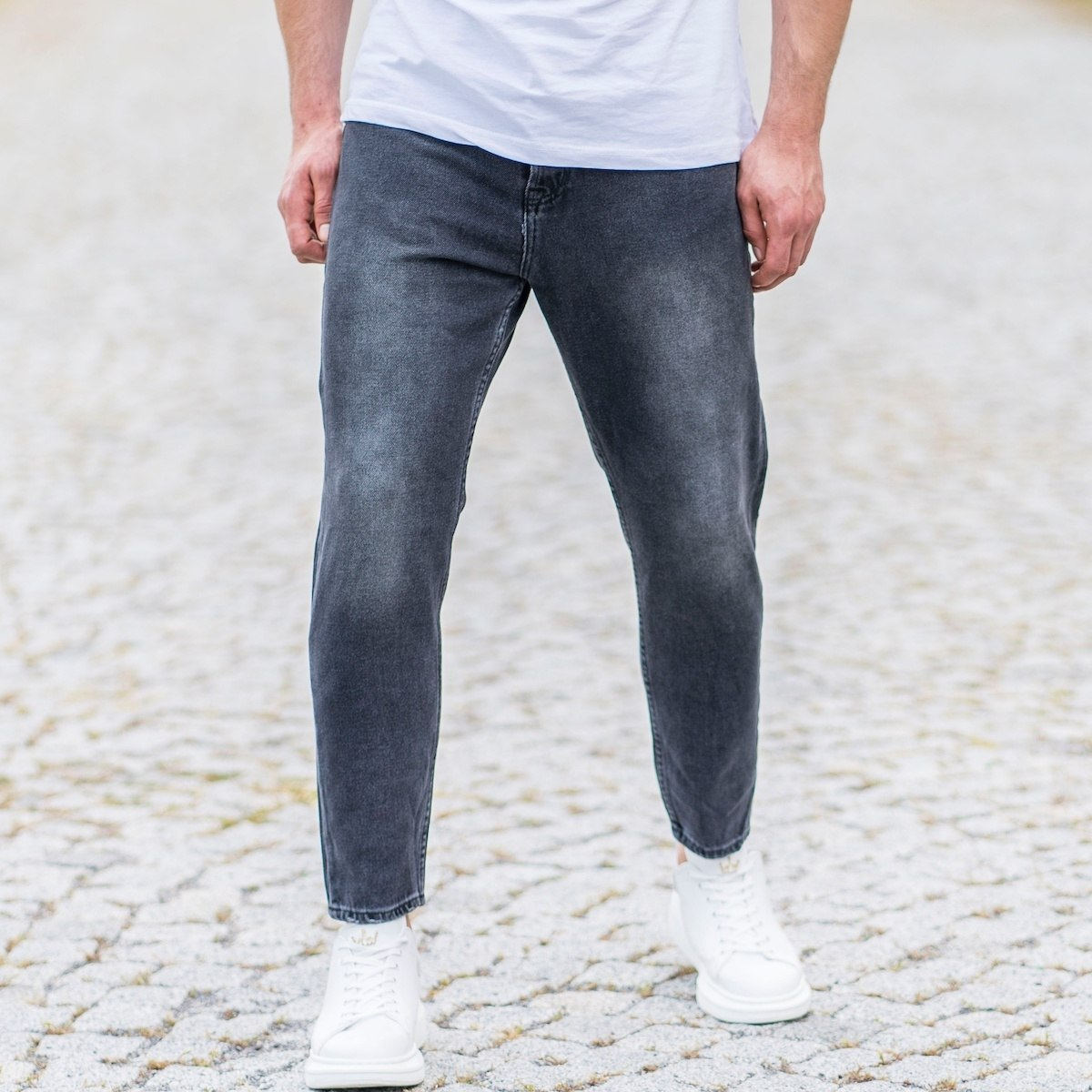 Men's Loose Fit Jeans In Anthracite