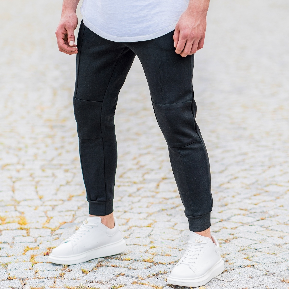 Men's New Style Joggers In Coal
