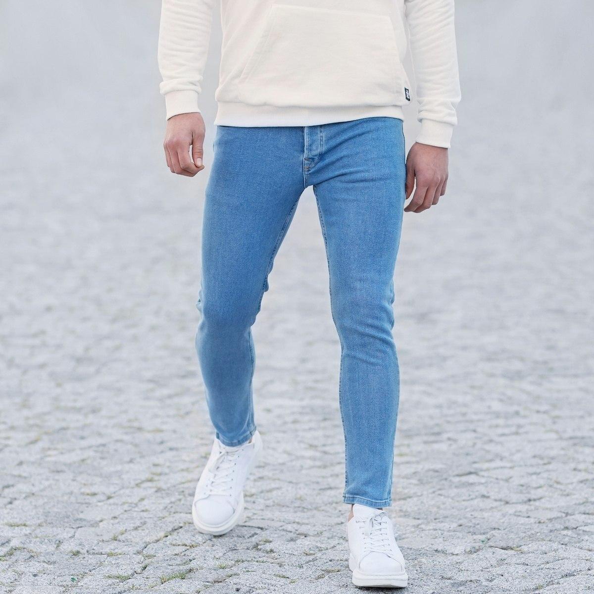 Men's Basic Skinny Jeans In Ice Blue